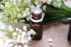 Essential oil and Lily of the valley Royalty Free Stock Photos