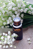 Essential oil and Lily of the valley Stock Photography