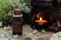 Essential oil and Lily of the valley Royalty Free Stock Image