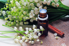 Essential oil and Lily of the valley Royalty Free Stock Photography