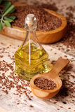 Essential oil linseed Royalty Free Stock Image