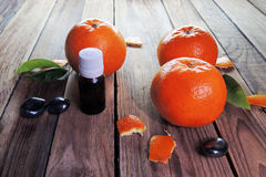 Essential oil and Mandarin Royalty Free Stock Photos