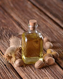 Essential oil of nutmeg Royalty Free Stock Photography