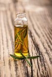 Essential oil with rosemary Stock Images