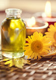 Essential oil for spa treatments Stock Photo