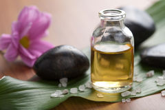 Essential oil and stones Royalty Free Stock Photography