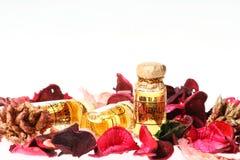 Essential Oils. On white background Royalty Free Stock Photos