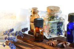 Essential oils for aromatherapy Stock Photos