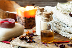 Essential Oils Aromatherapy.Spa Setting Royalty Free Stock Photo