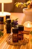 Essential oils for aromatherapy treatment Royalty Free Stock Photos