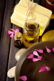 Essential oils and bath products Stock Photography