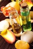 Essential oils bottles Stock Image