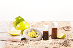 Essential oils from fruits Royalty Free Stock Image
