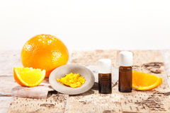Essential oils from fruits Stock Image