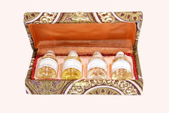 Essential Oils in a gift box Royalty Free Stock Photography