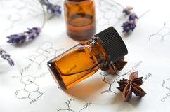Essential oils and science Stock Image
