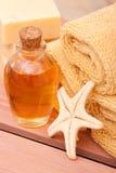Essential oils spa decor Stock Photography