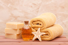 Essential oils spa decor Stock Photos