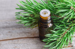 Essential pine oil Royalty Free Stock Image