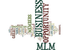 Essential Qualities Of A Truly Successful Mlm Business Opportunity Word Cloud Concept Stock Image