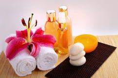 Essential Spa Aromatische Oliën Stock Foto