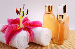 Essential Spa Massage Oils royalty free stock photo
