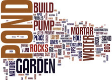 Essential Tips On How To Build A Pond Text Background  Word Cloud Concept Royalty Free Stock Photo