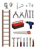 Essential to tinker. All the tools to tinker Royalty Free Illustration