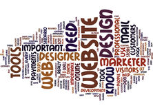 Essential Tools Every Website Designer And Marketer Needs Word Cloud Concept Stock Photography