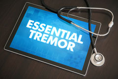 Essential tremor (neurological disorder) diagnosis medical conce Stock Image
