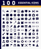 Essential web,app icons Royalty Free Stock Photos