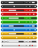 Essential Website Music Player Bar Set Stock Image
