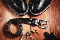Outfit of business man. Essentials modern man. Outfit of business man Royalty Free Stock Images