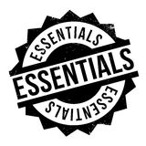 Essentials rubber stamp Royalty Free Stock Photos