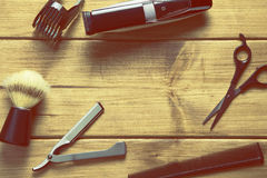 Essentials tools for barber Royalty Free Stock Images