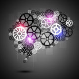 Essere umano Brain Shape Gears Business Background Fotografia Stock