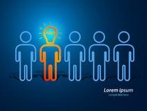 Essere umano capo della lampada Immagine Stock Libera da Diritti