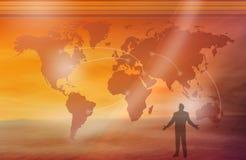 Essere umano e mondo Immagine Stock Libera da Diritti