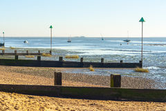 Essex coast at Leigh on sea UK Royalty Free Stock Photo