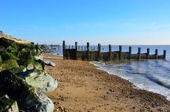 Essex Coastline with  Groyne Royalty Free Stock Photo
