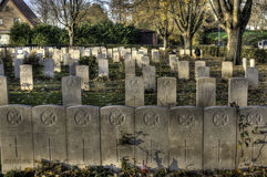 Essex Farm, WWI  Cemetery, Flanders Fields, Ypres, Belgium Royalty Free Stock Photo