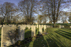 Essex Farm WWI Cemetery, Flanders Fields, Belgium Royalty Free Stock Images