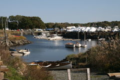 Essex, Massachusetts harbor Stock Image