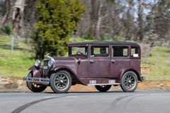 1929 Essex Super Six Sedan. Adelaide, Australia - September 25, 2016: Vintage 1929 Essex Super Six Sedan driving on country roads near the town of Birdwood Royalty Free Stock Photo