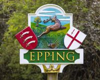 Epping in Essex stock image