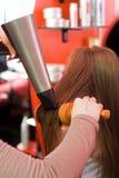 Essiccamento dei capelli Fotografia Stock Libera da Diritti