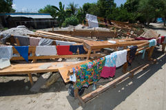 essiccamento dei vestiti Fotografia Stock Libera da Diritti