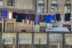 Essiccamento della lavanderia, Venezia Italia Fotografia Stock