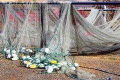Essiccamento delle reti da pesca immagini stock libere da diritti