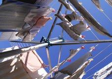 Essiccatore rotativo dei vestiti Fotografie Stock